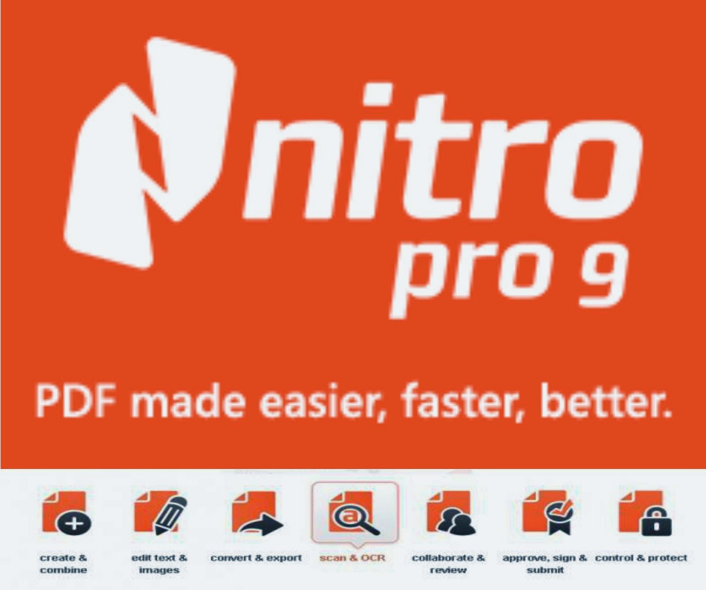 Nitro PDF Pro 9 Crack with Serial Key Full Free Download