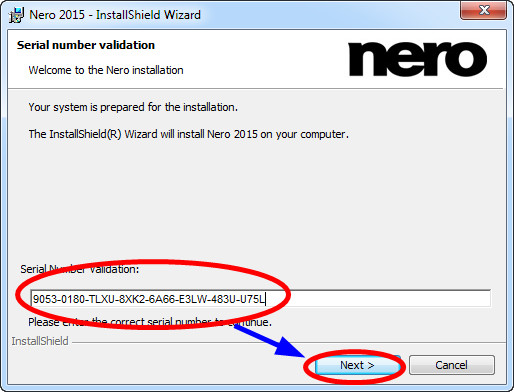 nero burning rom 2017 serial number validation