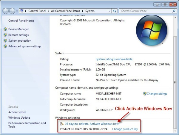 Windows 7 Product Key Plus Serial Number Full Free Download
