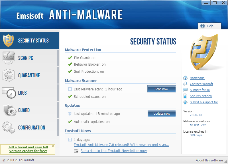 Emsisoft Anti-Malware License Key Plus Crack Full Free Download