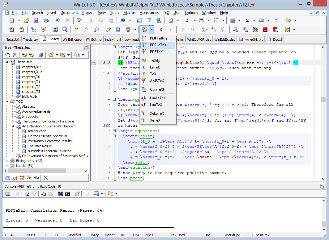 WinEdt 8.0 Crack And Keygen Full Version Free Download