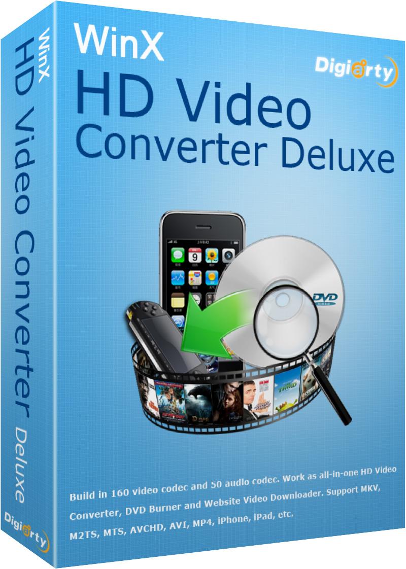 WinX HD Video Converter Deluxe License Code + Crack Free Download