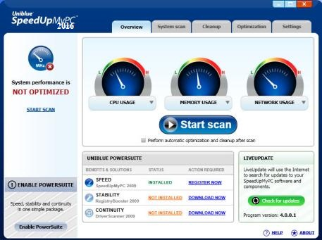 Uniblue SpeedUp My PC 2016 Serial Key With Crack Full Free Download